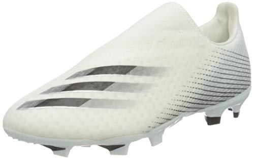 adidas Herren X Ghosted.3 Ll Fg Fußballschuh, Weiß Schwarz Silber Metallic Ftwbla Negbás Plamet, 42 2/3 EU