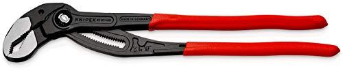 KNIPEX 87 01 400 Cobra® XL Rohr- und Wasserpumpenzange grau atramentiert mit Kunststoff überzogen 400 mm