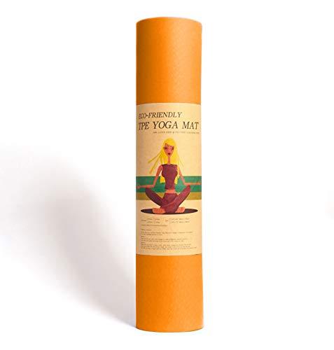 Epic Brands Fitleap Yoga-Matte Pro Orange aus umweltfreundlichem TPE-Schaum. Sehr rutschfeste,...