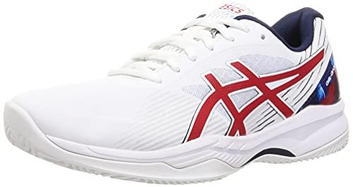 ASICS Herren Gel-Game 8 Clay/OC L.E. Tennis Shoe, White/Classic RED, 49 EU