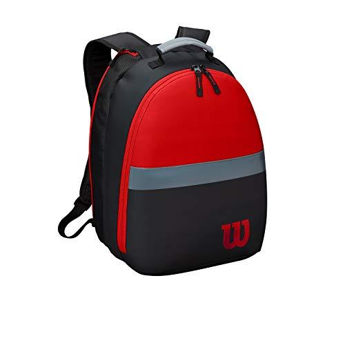 Wilson Junior-Tennisrucksack Clash, Bis zu 2 Schläger, rot/grau/schwarz, WR8002601001