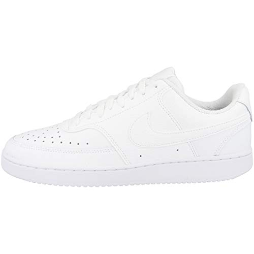 Nike Herren Court Vision Lo Basketballschuhe, White, 44 EU
