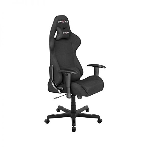 DXRacer OH/FD01/N DX Racer, F-Serie, Formular Serie, Bürostuhl, Drehstuhl, Stoff schwarz, das Original