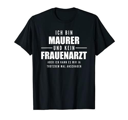 Maurer Zunft, Maurermeister und Handwerker Design I Motiv T-Shirt