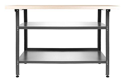 Ondis24 Werkbank Basic Packtisch Werktisch Werkstatteinrichtung 120 x 60 cm Arbeitshöhe 85 cm TÜV geprüft