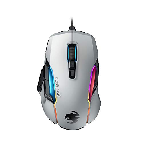 Roccat Kone AIMO Gaming Maus (hohe Präzision, Optischer Owl-Eye Sensor (100 bis 16.000 Dpi), RGB AIMO LED...