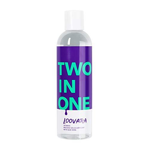 Loovara TWO IN ONE – 2 in 1, pflegendes Massage-Öl und Gleitgel in einem | mit Aloe Vera | natürliche...