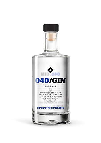040 Gin - Manufaktur Gin des HSV (1 x 0,5l) - fruchtig frischer Hamburger Gin
