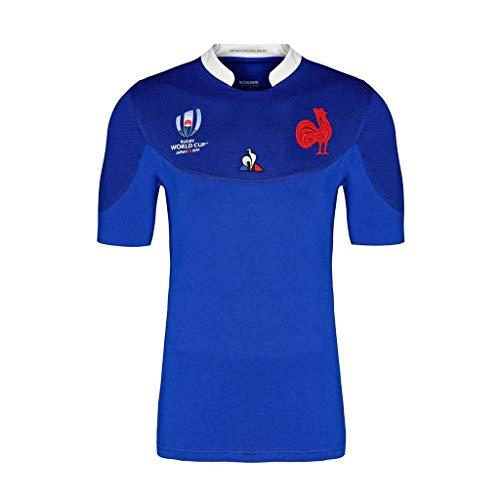 Pavilion Rugby Trikot Team Frankreich 2019 Japan-Weltmeisterschaft Herren T-Shirt Bekleidung (Size : XL)