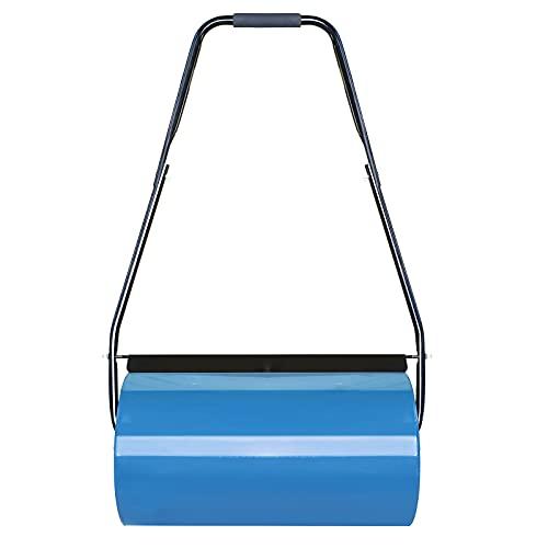 Aufun handwalze rasenwalze gartenwalze - 57 cm Walzenbreite, 32 cm Durchmesser, 46 l Füllvolumen - Blau
