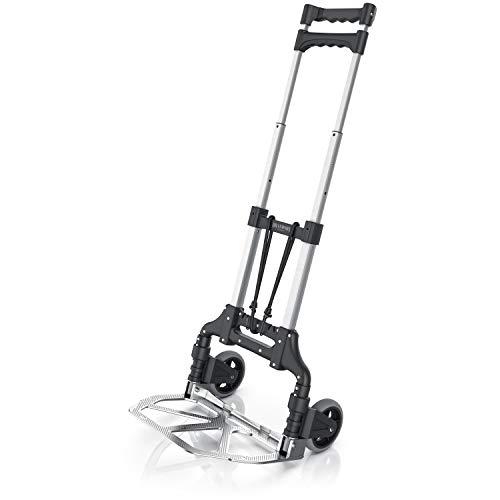 Brandson - Sackkarre klappbar aus Aluminium – Transportkarre 70 kg Last - 3,17 kg - Vollgummi Reifen –...