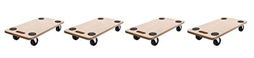 Rollbrett Set (4 Stück) Transportroller 59x29 cm bis 200kg