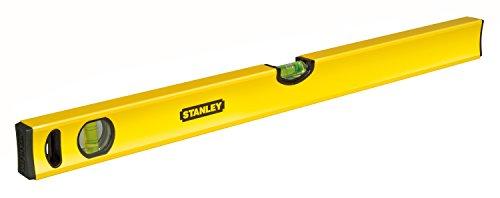 Stanley Wasserwaage Klassik (100 cm Länge, horizontale/vertikale Libelle, Schockabsorber, Genauigkeit ±0,5...
