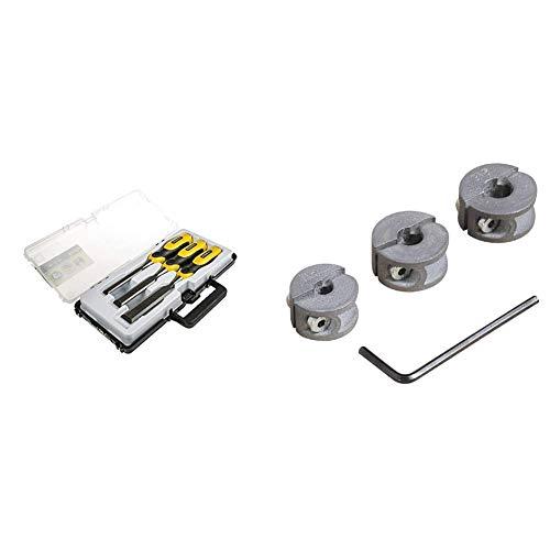 Stanley DynaGrip Stechbeitel-Set (3-teilig, 12/18/25 mm, Chrom-Stahl-Legierung, ergonomisch, schlagfester...