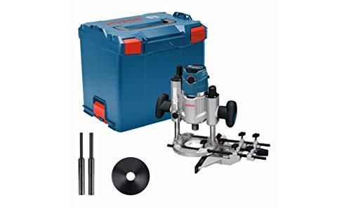 Bosch Professional Oberfräse GOF 1600 CE (inkl. 2xSpannzange, Absaugadapter, Parallelanschlag, Zentrierstift,...