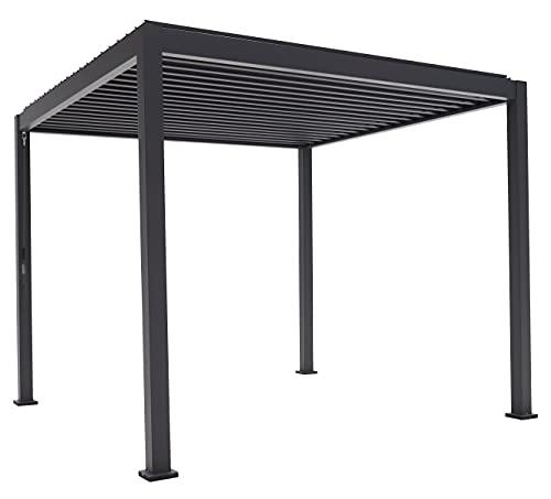 SORARA Basic Mirador Pavillon 3 x 3 m Wasserdicht - Pergola mit Lamellendach - Aluminium/Stahl...
