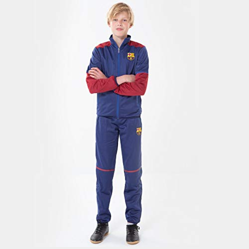 Morefootballs - Offizieller FC Barcelona Trainingsanzug für Kinder - 2020/2021 - Größe: 140 - Langarm FCB...