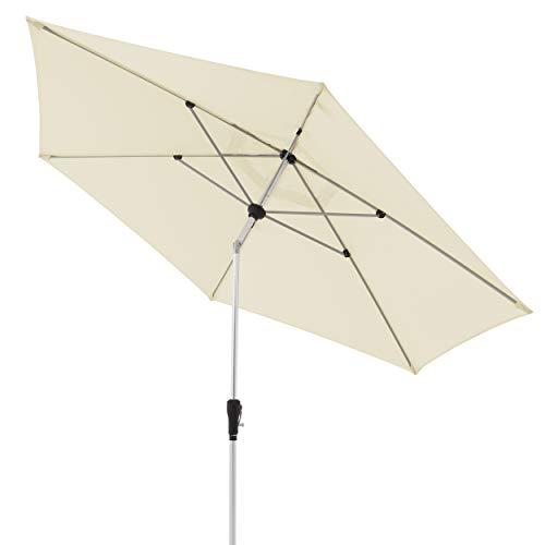 doppler Aluminium Sonnenschirm SL-AZ 330 - Knickbarer Sonnenschutz für Balkon oder Terrasse - ca. 330 cm -...