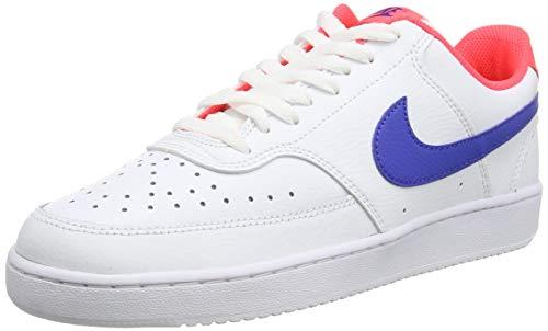 Nike Herren Court Vision Low Basketballschuh, White Game Royal Flash Crimson, 43 EU