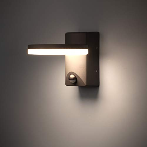 FLORNIA LED Außenlampe mit Bewegungsmelder Außenbeleuchtung Aussenleuchte wetterfest Türleuchte für Garten...