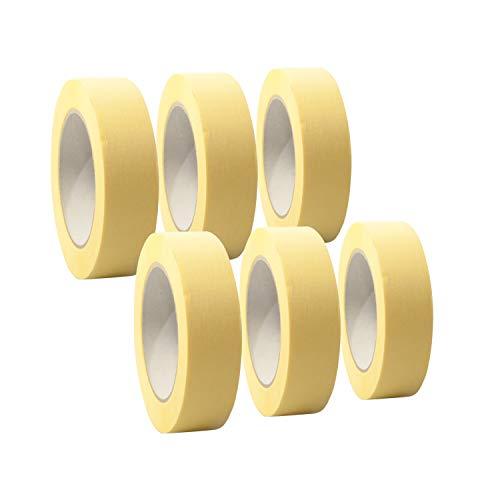 6 Rollen 'Premium' Malerkrepp/Abklebeband/Kreppband,19-75mm, Abmessungen:30mm x 50m