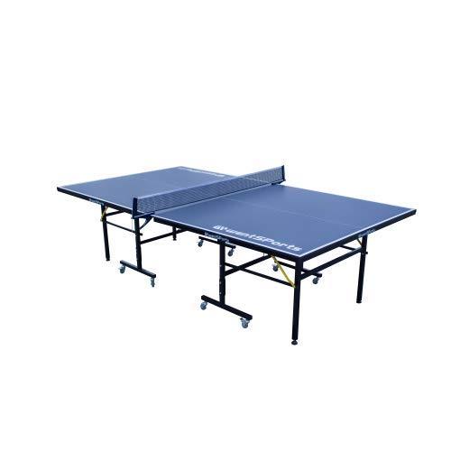 NOUVCOO Tischtennisplatte Set, Profi MDF Pingpong Tisch 95% vormontiert, Outdoor/Indoor mit Schnellklemme Ping...