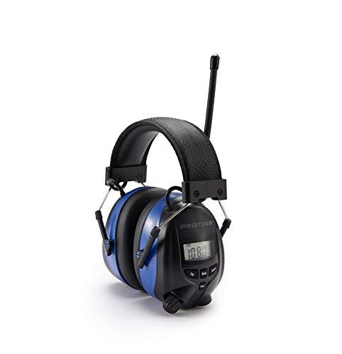 Gehörschutz mit Radio und Bluetooth, FM/AM-Digital-Radio und eingebautem Mikrofon, Protear Wiederaufladbare...