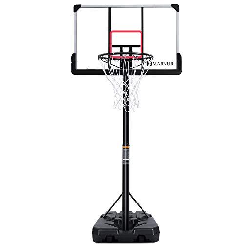 MARNUR Basketballkorb Outdoor Basketballständer Basketballkorb mit Ständer Tragbare...