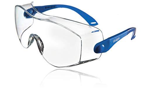 Dräger Schutzbrille X-pect 8120 | Einstellbare Überbrille auch für Brillenträger | Für Baustelle, Labor,...