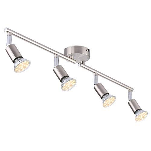 Deckenleuchte LED Deckenstrahler, Tomshine Spotleuchte 4 Flammig dreh- schwenkbar 4 x 4W GU 10 Deckenlampe...