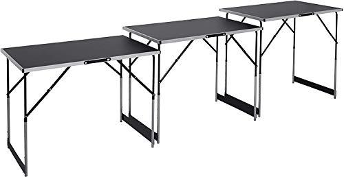 Meister Multifunktionstisch 3-teilig - 30 kg Tragkraft je Tisch (100 x 60 cm) - 4-fach höhenverstellbar -...