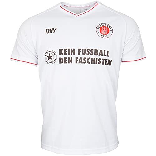 FC St. Pauli Trikot Teamshirt T-Shirt Auswärts 2021-22 Kein Fußball den + Sticker (3XL, 3X_l)