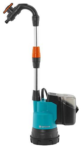 Gardena Regenfasspumpe 2000/2 Li-18 ohne Akku: Tauchpumpe mit integriertem Filter, Fördermenge 2000 l/h, 3...