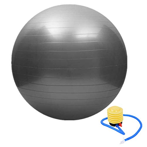 fourseasons Gymnastikball Sitzball Pezziball 45cm Grau Pilates Yoga Ball als Fitness Kleingeräte und Balance...