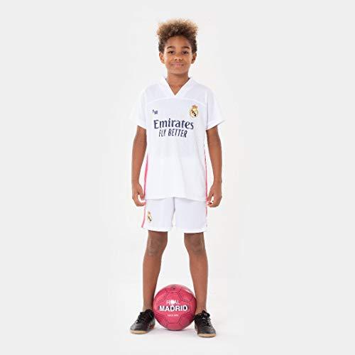 Morefootballs - Offizielles Real Madrid Heimspiel Trikot Set für Kinder - 2020/2021-152 - Vollständiges...