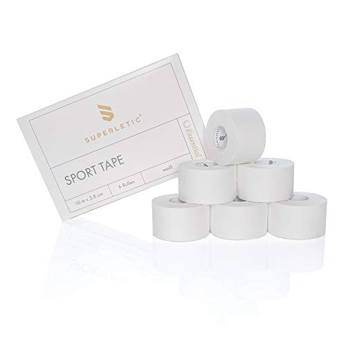 SUPERLETIC® Sporttape Weiß [3,8cmx10m] - Profi Sport Tape für Handball I Sport-Tape Set I Fingertape I...