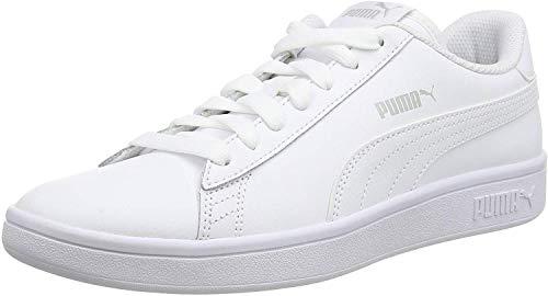 PUMA Unisex Smash v2 L Sneaker, White White, 47 EU