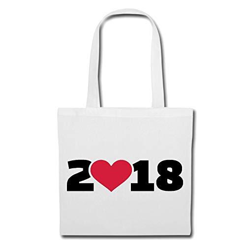 Tasche Umhängetasche I Love 2018 - Silvester - JAHRESWECHSEL - Feuerwerk - SILVESTERKNALLER Einkaufstasche...