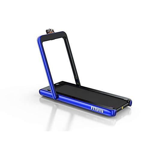 Fitifito ST100 Edles Laufband Silber im Büro zuhause unter Schreibtisch 1-12 km/h Bluetooth Fernbedienung...