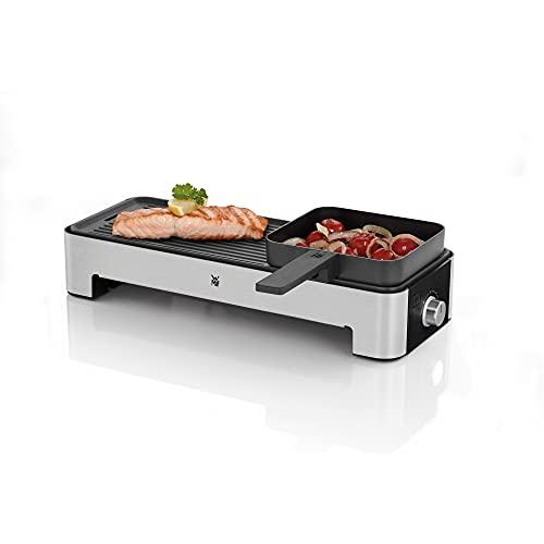 WMF Küchenminis Tischgrill für 2 mit Gemüsepfännchen, kleiner Elektrogrill mit kompakter Grillfläche und...