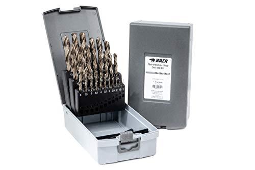 BAER HSSE Extrem-Bohrer Satz (0,5mm steigend) 1-13 mm - Spiralbohrer aus hochlegiertem HSSE/Cobalt Stahl  ...
