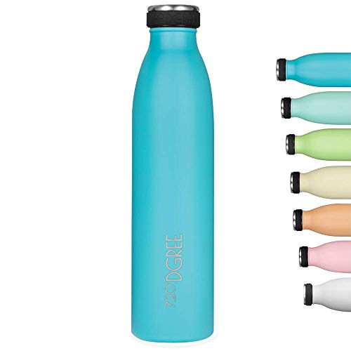 """720°DGREE Edelstahl Trinkflasche """"milkyBottle"""" - 500ml - Perfekt für Kinder, BPA-Frei, Auslaufsicher,..."""