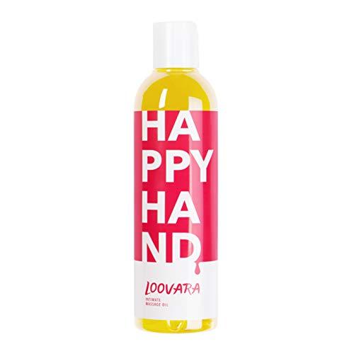 Loovara HAPPY HAND – erotisches Massageöl I Liebes-Öl fürs Vorspiel (250 ml) I Vegan, dermatologisch...