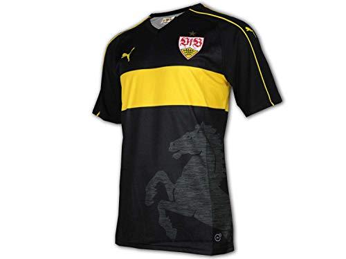 Puma VfB Stuttgart 3rd Jersey schwarz VfB Alternativ Fußball Trikot Bundesliga, Größe:M