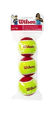 Wilson Tennisbälle Starter Red für Kinder, gelb/rot, 3er Pack, WRT137001
