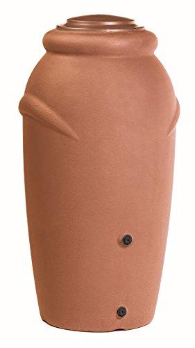 Prosperplast Regentonne Wassertonne Regenfass Wassertank Amphore 210L mit Wasserhahn (Terracotta)