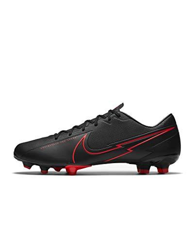 Nike Herren Vapor 13 Academy Fm/Gm Fußballschuhe (schwarz rot, Numeric_44_Point_5)