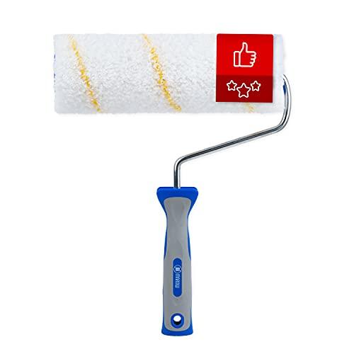 MAROW® Farbroller I 100% thermofusionierte Polyamid Malerrolle I 25cm Farbwalze mit ausgezeichneter...