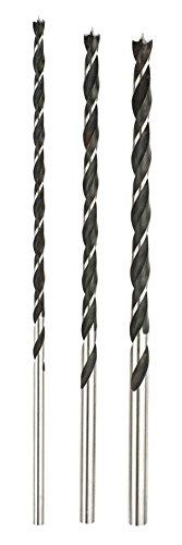 kwb 3-tlg. Holzbohrer-Set, 6 mm, 8mm, 10 mm (Balkenbohrer lang für Holz)