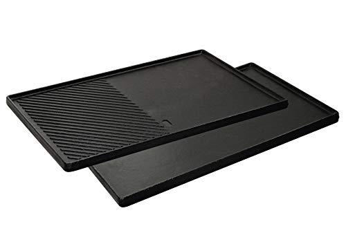 Enders® GUSS-WENDEPLATTE 1/2 7893 Boston 4, Monroe PRO 4, 43 cm x 32 cm, Grillplatte, gerippt und glatt,...